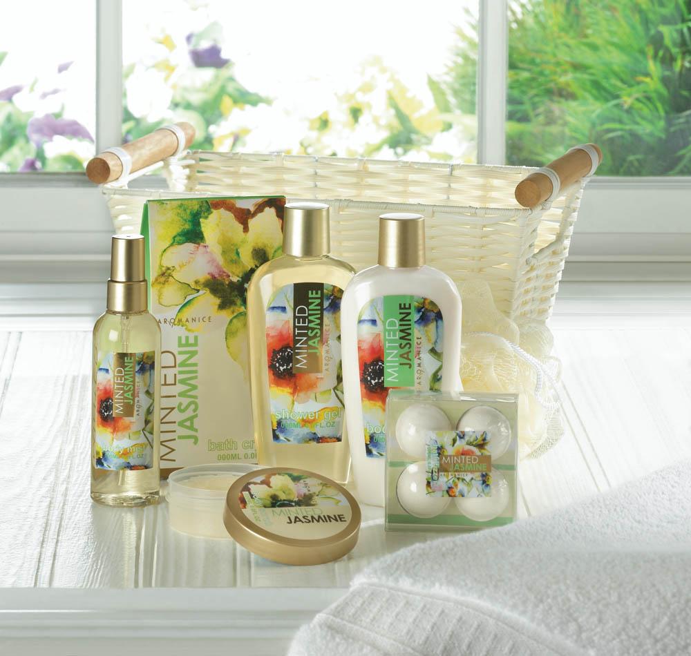 c29fe60c6d1fa Minted Jasmine Spa Gift Basket – All Seasons Gifts