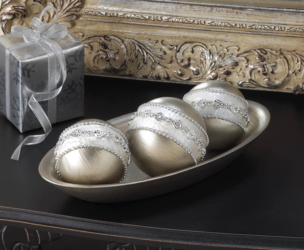 Silver decorative ball set all seasons gifts